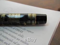 Omas Supplémentaire Lucens Black-gold Limited Édition Stylo Plume Fine Pointe 18kt Mib