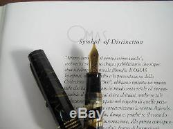 Omas Supplémentaire Lucens Black-gold Limited Édition Stylo Plume Moyenne 18kt Nib Mib