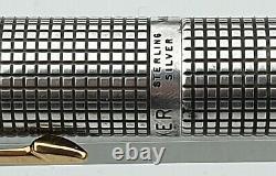 Parker 75 Sterling Silver Cisele Fountain Pen Medium Nib Flat Tassies Convertisseur