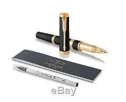 Parker Ingenuity Grande Laque Noire Parker Pen 5 Avec Bordure Dorée Moyen