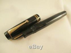 Parker Vintage Duofold Noir Cellulid Plume Or De Fountain Pen C. Canada 1930's