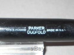 Parker Vintage Noir Senior Streamline Duofold Fountain Pen-extra Fine