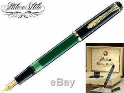 Pelikan M151 Verde Nera Penna Stilografica Pelikan Vert Noir Stylo-plume