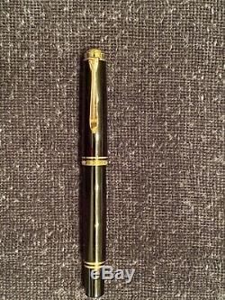 Pelikan M600 Souveran Fountain Pen Ef 14k Nib Utilisé Noir