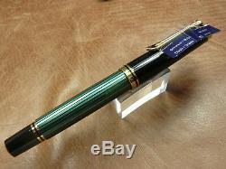 Pelikan M600 Souveran Noir / Vert Stylo-plume 14k Or Fin Nib