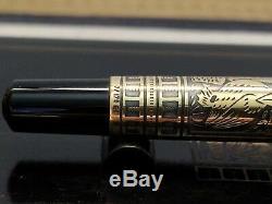 Pelikan M700 Noir Toledo Fontaine Pen Pré-unification Édition (18c Nib Or B)
