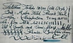 Pelikan M700 Toledo (old Style) Vintage Fountain Pen Noir Et Vermeil F 18k Nib