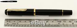 Pelikan Piston Fountain Pen M200 / M 200 En Pointe Noire Tailles F, M Ou B
