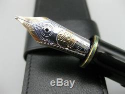 Pelikan Souverän M1000 Noir / Vert D'or 18k Nib Stripes, Excellent Etat