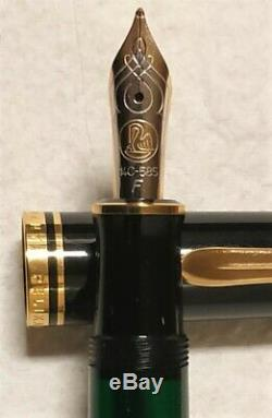 Pelikan Souveran M600 Noir Gt Fountain Pen F 14k Nib (nouveau)