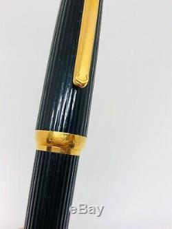 Pen Véritable Louis Cartier Fontaine Noir Composite Gt 18k Nib Voir Absolument