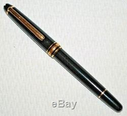 Peu Utilisé Montblanc 144 Stylo Classique Plume Noire Cas Withcartridges