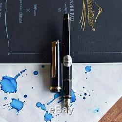 Pilot Falcon Black & Gold Fountain Pen Soft Gold Extra Fine Ef Nib