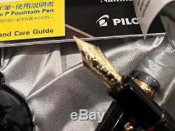 Pilot Fountain Pen Sur Mesure 823 Fine Nib Fumée / Noir Transparent Plongeur Remplissage Utilisé