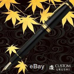 Pilot Namiki Custom Urushi Fountain Pen Noir Fine Moyenne Nib Fkv-88sr-b-fm