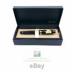 Pilote Sur Mesure Urushi Laque N ° 30 Nib 18k Noir Énorme Fountain Pen