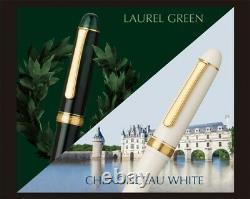 Platine #3776 Century Fountain Pen Chenonceau White Coarse Nib Pnb-13000#2-5