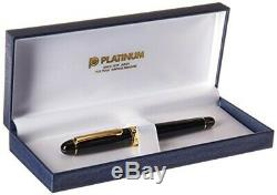 Platinum # 3776 Century Fountain Pen Noire Black Music Nib Pnbm-20000 # 1-6