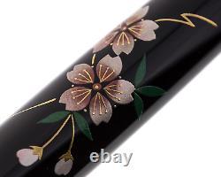 Platinum #3776 Century Kaga Hira Makie Stylo De Fontaine Sakura M Nib Pnb-30000b#40-3