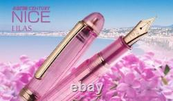 Platinum #3776 Century Nice Fountain Pen Lilas Fine Nib Pnb-20000r#22-2