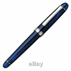 Platinum # 3776 Siècle Fontaine Pen Chartres Bleu Rhodium F-nib 15000cr # Pnb 51-2