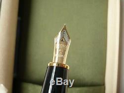 Platinum Izumo Gloss-tagayasan Bombay Bois Noir Stylo-plume 18k Japon F / M