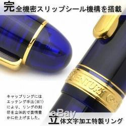 Platinum Nouveau # 3776 Siècle Fontaine Pen Chartres Bleu Moyen-nib 13000 # Pnb 51-3