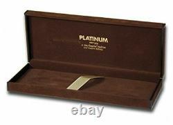Platinum President Rhodium Finished Fountain Pen Noir B Nib Ptb-25000pr#1-4