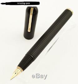 Rare Lamy Persona Fountain Pen En Noir Mat Titan Avec 14k M-nib (bouchon Endommagé)