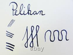 Rare Nr Mint Vintage Noir Strié Pelikan 400nn Stylo Plume 14ct Ob Plume