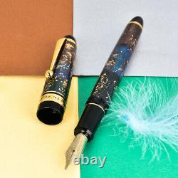 Rare Pilot Custom 743 Urushi Art 14k Grand Or B Broad Nib Fountain Pen