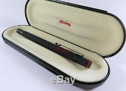 Rotring 600 Noir Pen Old Style Fontaine F, Fabriqué En Allemagne, Nouveau Vieux Stock