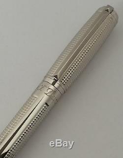 S. T. Dupont D Ligne Blasons Fountain Pen, Palladium Terminer, 410671, Neuf Dans La Boîte