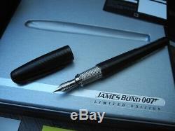 S. T. Dupont James Bond 007 Noir Pvd Limited Edition XL Olympio Fountain Pen Nouveau