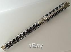 S. T. Dupont White Knight Grande Fontaine Pen, Premium Edition # 141030 Neuf Dans La Boîte