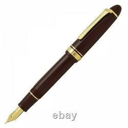 Sailor 1911 Gold Profit Large 21k Fountain Pen Maroon Fine Nib 11-2021-232