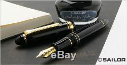 Sailor 1911 Profit Realo 21k Stylo Plume Noir Moyen Pointe 11-3924-420
