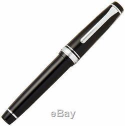 Sailor Fountain Pen 11-2037-420 Vitesse Professionnelle Argent Noir 21k Moyen Nib