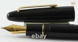 Sailor King Of Pens Ebonite Noir Avec Or Plaqué Trim Fountain Pen Gorgeous