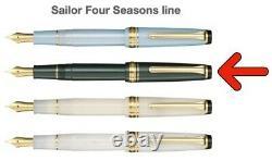 Sailor Pro Gear Slim Mf Plume (or 14k) Shikiori Four Seasons Fountain Pen, Utilisé