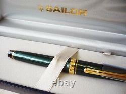 Sailor Shikiori Four Seasons Manyo Green Fountain Pen 14k Manyou Mf Nib Japon