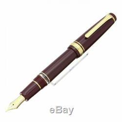 Sailor Vitesse Professionnelle Realo Fountain Pen Piston Maroon Fine Nib 11-3926-232