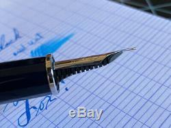 Scribo Feel Fountain Pen, Bleu Noir, 14k Flex Xxf À Bbb Med / Full Flex