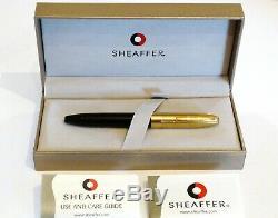 Sheaffer Héritage Fountain Pen En Laque Noire Et Or 18k Cap Nib Nr Monnaie