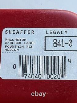 Sheaffer Legacy Point Blanc Palladium Avec Stylo Plume Noir Laque