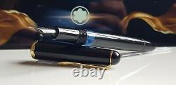 Stylo De Fontaine Mont Blanc 042 Monterosa Piston Filler Fonctionnel Or Noir Vg Mr1