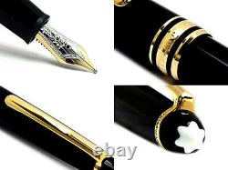 Stylo Plume Montblanc 145-meisterstuck Classique Gold Fountain Pen, Nib Moyen