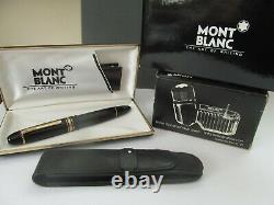 Stylo Plume Montblanc 149 14k Nib #4810 Bouteille D'encre Et Pochette De Transport
