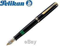 Stylo Plume Pelikan Souveran Piston M 1000 Noir 18k Or Nib (m) -987396