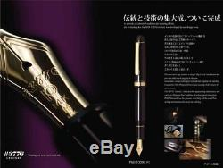 Stylo Plume Platinum # 3776 Century Pnb-10000 # 1 Noir En Noir Moyen Japon